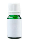 Plain label green glass medicine bottle Royalty Free Stock Photography