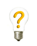 Plain light question Royalty Free Stock Photo