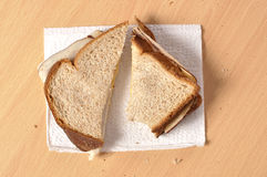 Plain lunchmeat sandwich Royalty Free Stock Photography
