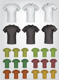 Plain male polo shirt templates. Royalty Free Stock Photography