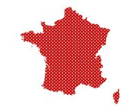 Plain map of France royalty free stock image