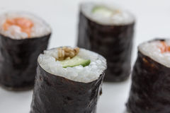 Plain  mixed sushi rolls. Some plain  mixed sushi rolls Stock Photo