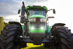 Plain modern tractor. A plain green modern tractor Stock Image