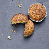 Plain muffins on a slate background Stock Images