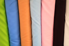 Plain multicolor fabric for sale Stock Image