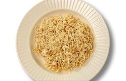 Plain noodles on a plate Stock Photos