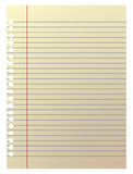 Plain note paper in illustration Stock Image