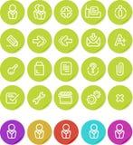 Plain o ícone das etiquetas ajustado: Web site e Internet Fotos de Stock