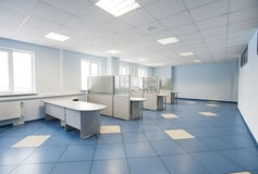 Plain office space interior Royalty Free Stock Images