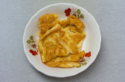 Plain omelet Royalty Free Stock Photography