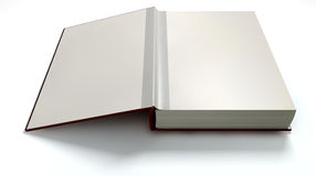 Plain Open Book With Blank Pages Stock Image