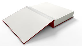 Plain Open Book With Blank Pages Stock Photo