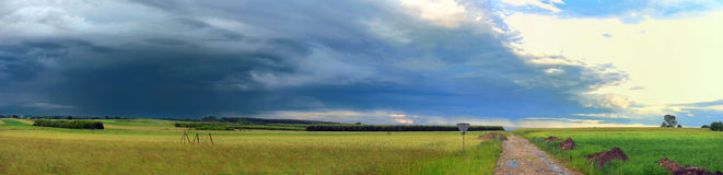 Plain panoramic landscape Royalty Free Stock Image