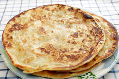 Plain parathas Stock Images