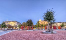 Plain of Plainpalais, Geneva, Switzerland, HDR Stock Photography