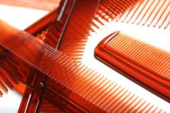 Plain  plastic combs Stock Images