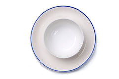 Plain Plate and bowl Stock Photography