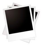 Plain polaroid pile Royalty Free Stock Photos