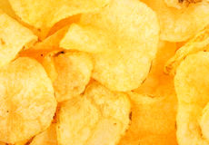 Plain potato chips Royalty Free Stock Photography