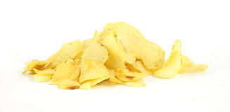Plain Potato Chips Royalty Free Stock Images