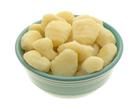 Plain potato gnocchi in a green bowl Royalty Free Stock Images