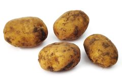 Plain potatoes Stock Photo