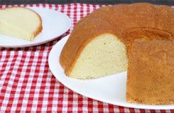 Plain Pound Cake, Bundt Style Stock Image