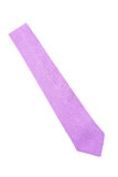 Plain purple business neck tie Royalty Free Stock Image