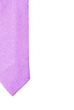 Plain purple business neck tie Royalty Free Stock Images