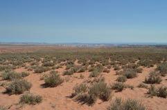 Plain que nos toma à curvatura da sapata do cavalo Rio de Colorado geologia Fotografia de Stock Royalty Free