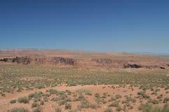 Plain que nos toma à curvatura da sapata do cavalo Rio de Colorado geologia Foto de Stock Royalty Free