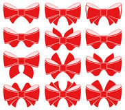 Plain red bow Royalty Free Stock Photography