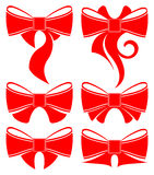 Plain red bow Stock Images