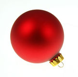 Plain Red Christmas Bauble Stock Photos