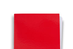 Plain red folder Stock Photos