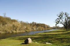 Plain river in Europe Stock Photos