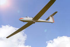 Sailplane in the air Royalty Free Stock Photo