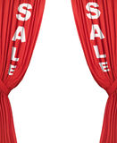 Plain Sale Curtains Royalty Free Stock Photos