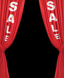 Plain Sale Curtains Stock Photo