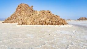 Plain of salt in the Danakil Depression in Ethiopia, Africa. Plain of salt in the Danakil Depression in Ethiopia in Africa royalty free stock photography