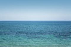 Plain Sea Horizon with Clear Sky. La Manga del Mar Menor, Cabo de Palos, Cartagena and San Javier, Murcia, Spain, Europe Royalty Free Stock Image