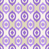 Plain Seamless Pattern with Geometric Ornament Stock Photography