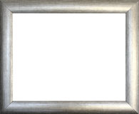 Plain silver picture frame Royalty Free Stock Photo