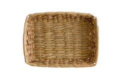 Plain simple wicker tray Stock Photos