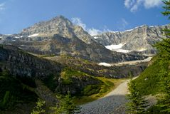 Plain of the six glaciers, Lake Louise Royalty Free Stock Photography