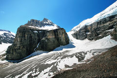Plain of Six Glaciers  and Lake Louise Royalty Free Stock Image
