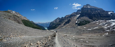 Plain of Six Glaciers Trail at Lake Louise in Banff National Par Stock Photography