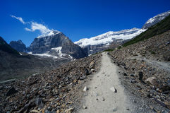 Plain of Six Glaciers Trail at Lake Louise in Banff National Par Royalty Free Stock Photo