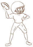A plain sketch of an American football player Royalty Free Stock Images