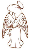 A plain sketch of an angel Royalty Free Stock Photos